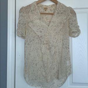 Aritzia 💯 silk print blouse